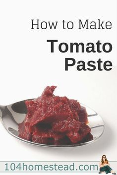 Homemade tomato paste is thick and rich with flavor. We use it for thickening spaghetti sauce, enriching the flavors in stews and soups, and more.