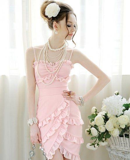 Pink mini fashion dress