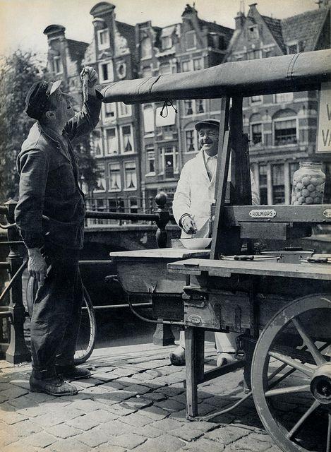 Kees Scherer 24 uur Amsterdam,Prinsengracht haringkar 1957