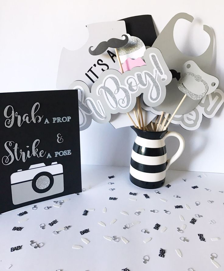 Mustache Baby Shower Photo Booth Props | Mustache Baby Shower Decorations | Mustache Party Decorations | Grey | Gray | Silver | Baby Shower by CMCraftStudio on Etsy