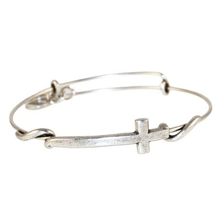 alex and ani cross bracelet | Alex and Ani Russian Silver Cross Wrap Expandable Wire Bangle  I so want this for my bday!