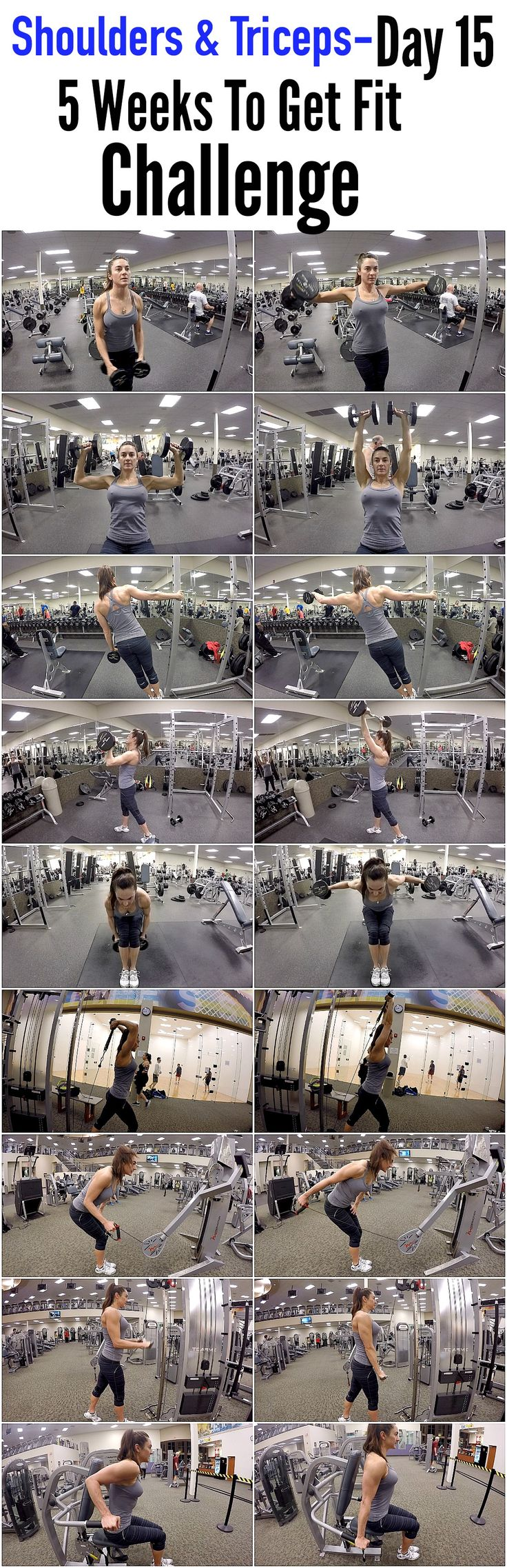 5 Weeks To Get Fit Challenge Day 15-Shoulders & Triceps.