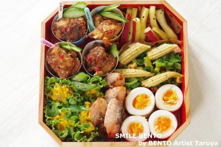 秋の行楽弁当シリーズ②おかずを大きいお弁当箱にきれいに詰めるコツ | レシピサイト「Nadia | ナディア」プロの料理を無料で検索