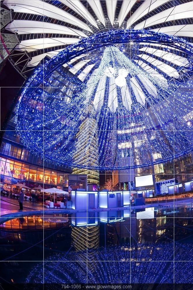 Sony Centre illuminated at Potsdamer Platz - Berlin - Germany
