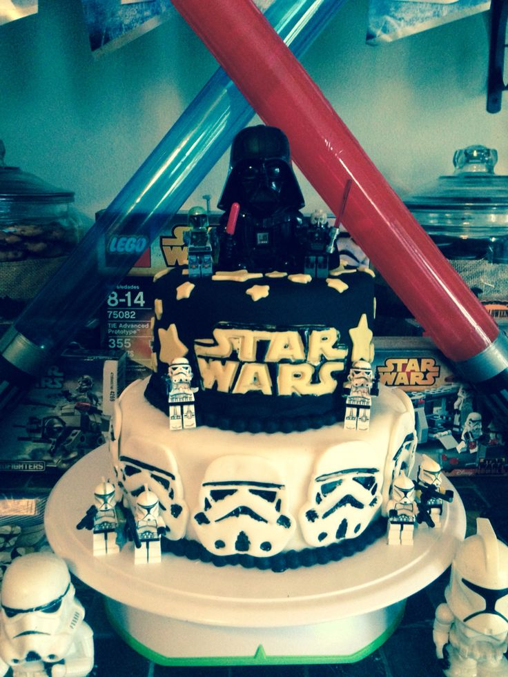 Star Wars cake. Check out our Facebook page Ruzakos gift shop