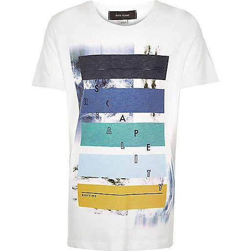 Weißes T-Shirt mit Aufdruck - Bedruckte T-Shirts - T-Shirts/Trägertops - Jungen