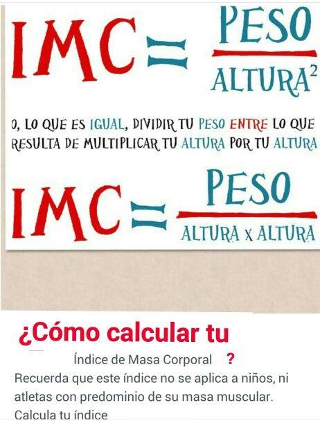 ¿Cómo calcular tu índice de masa Corporal. IMC?
