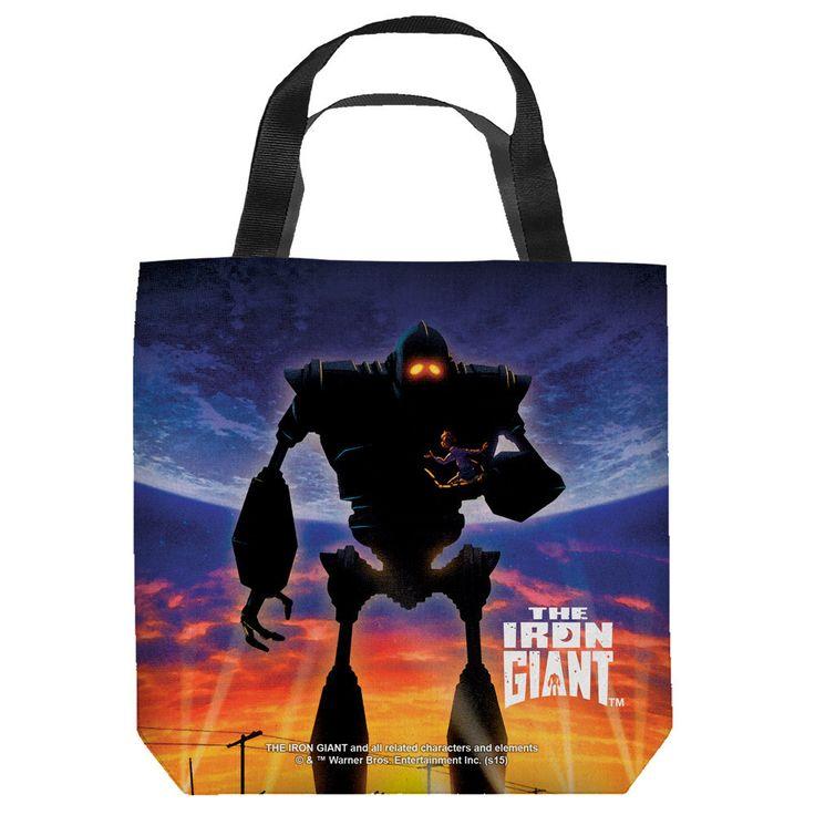 Iron Giant Poster Tote Bag