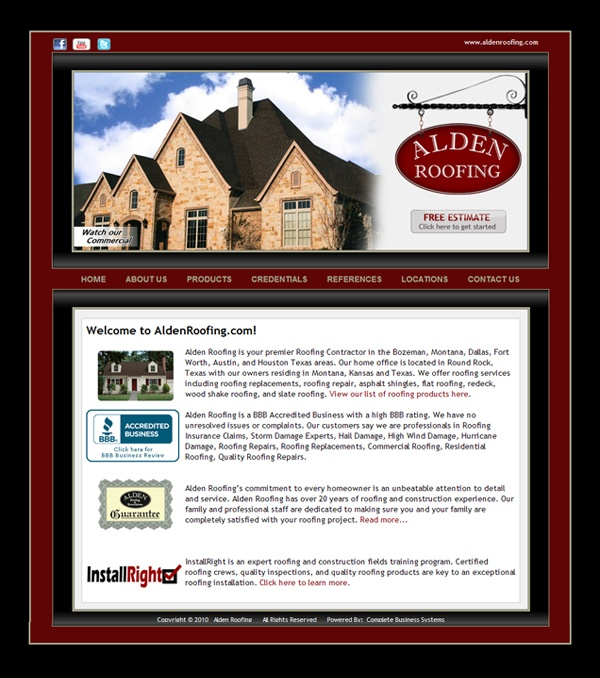 Alden Roofing   Dallas, Texas Http://www.aldenroofing.com | Website  Portfolio | Pinterest | Dallas E Texas