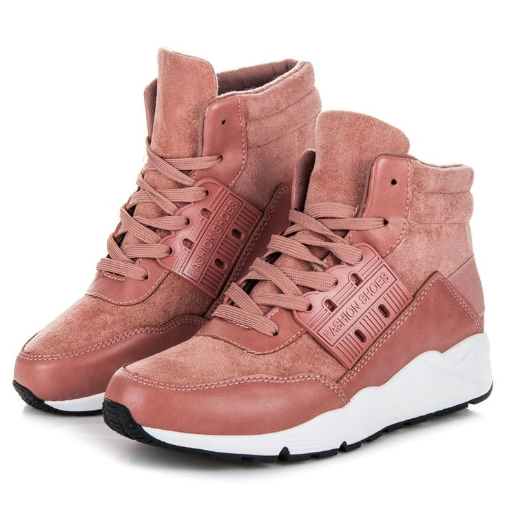 Tall sneakers on the platform  Unusual sports shoes that will provide you with great comfort for walking on a daily basis, but also you will always look fashionable and stylish not only in sports styling. https://www.cosmopolitus.com/kotnIkovE-tenisky-platformE-odstiny-ruzove-zjy10p-p-252667.html?language=en&pID=252667 #sneakers #high #pink #fashionable #comfortable #solid #beautiful #style