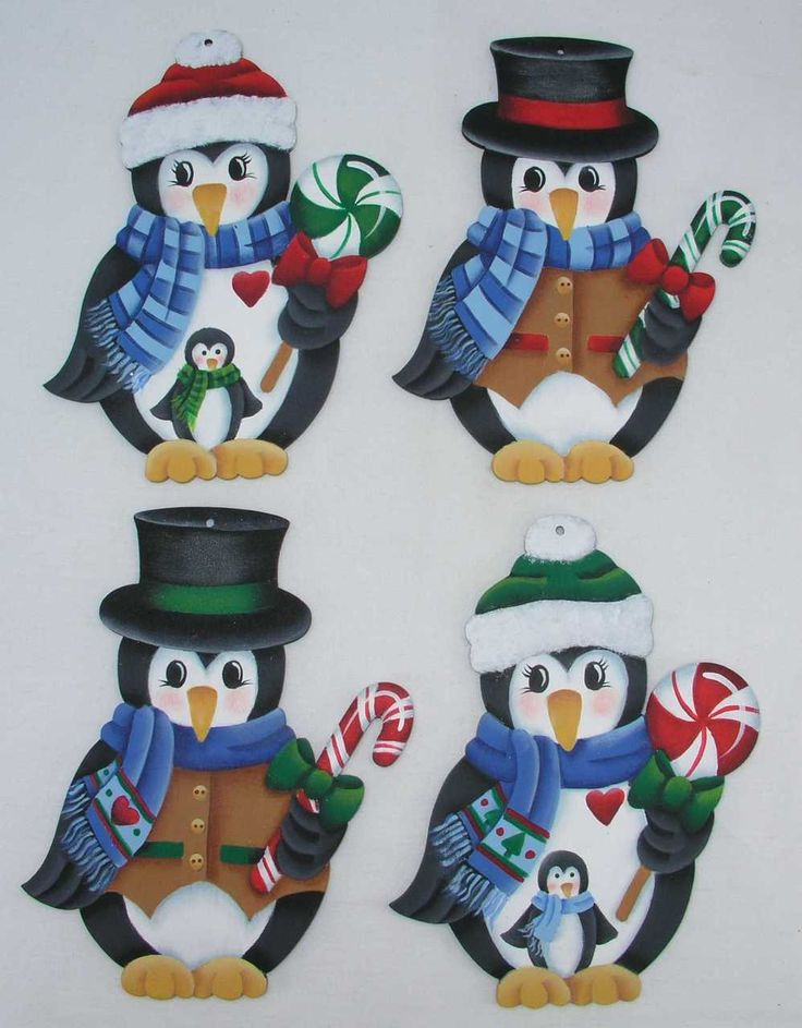 A Stroke of Jeanne-ius  - Penguins and Peppermints Ornaments E-Pattern, $6.00 (http://www.astrokeofjeanneius.com/penguins-and-peppermints-ornaments-e-pattern/)