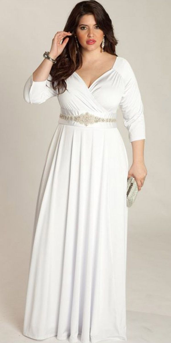 24 Of The Most Graceful Simple Wedding Dresses With Sleeves Wedding Dresses Guide Simple Wedding Dress With Sleeves Plus Size Gowns Plus Size Wedding Gowns