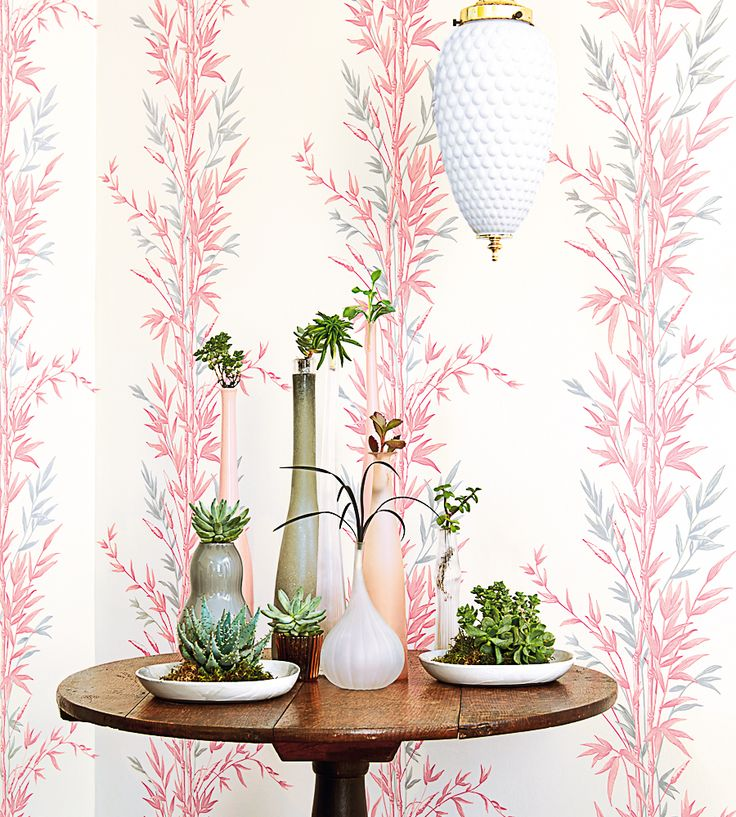Oriental inspired bamboo wallpaper... New this week | Bamboo Wallpaper by Cole & Son | Jane Clayton