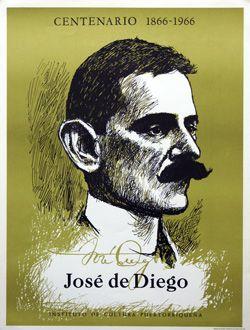 Cartel Centenario José de Diego
