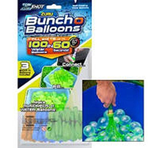 Buncho Water Balloons - 100 Magic Balloons - Fill and Tie water balloons in 60 seconds