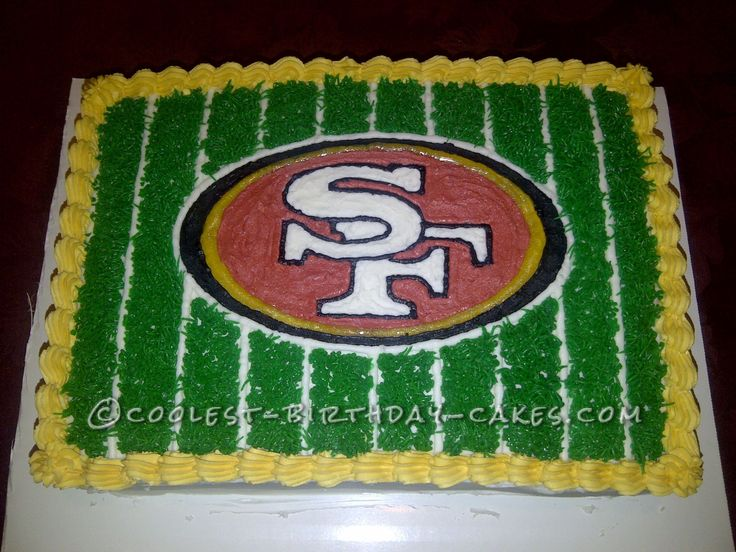 49ers Fan Football Cake... This website is the Pinterest of birthday cake ideas