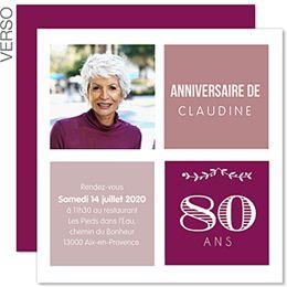 belle Typo pour vos 80 ans et inviter de la plus élégante des mainières #anniversaire #invitation