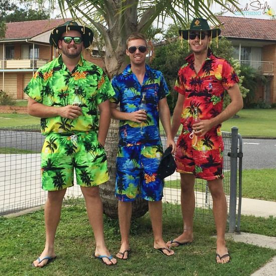 bad8ac1e Groovy Party Kits - Mens Hawaiian Shirt and Matching Shorts. Be the life of  the party, even better matching with your mates. Cricket, Bucks party,  cruise, ...