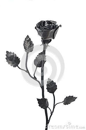 Unique black forged iron roses