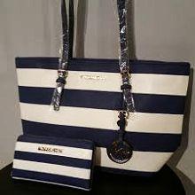 Michael Kors Marina Large Gathered Tote Shoulder Bag Handbag Tie Dye Blue NWT #MichaelKors #TotesShoppers