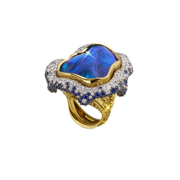Konstantino 18k Yellow Gold Opal Ring w/ Diamonds KvC4gdI3