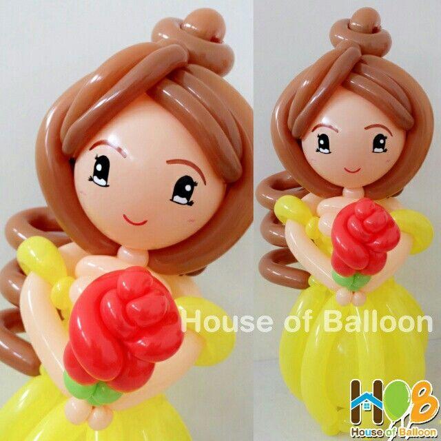 Princess Belle Beauty and The Beast Balloon Character Twist  #balon #HouseofBalloon #art #disney  www.houseofballoon.com
