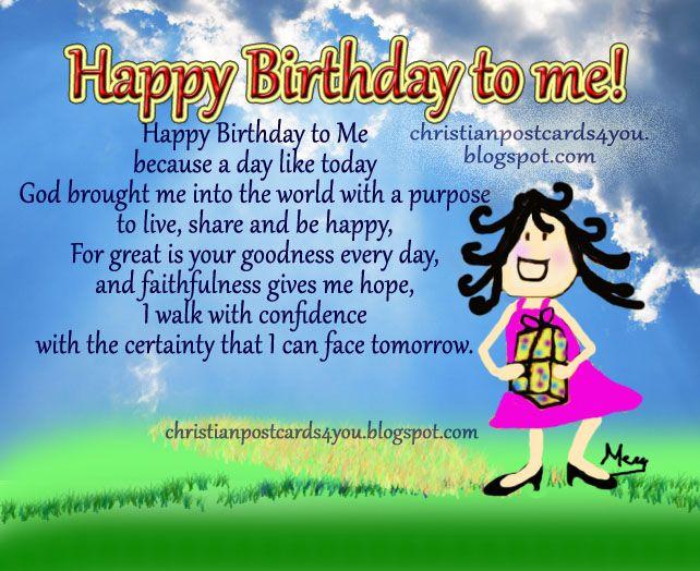 Happy Birthday Religious | Happy Birthday to Me. Christian free Card, postcard, my birthday is ...