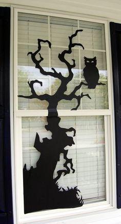 Free Halloween Window Decorating Templates