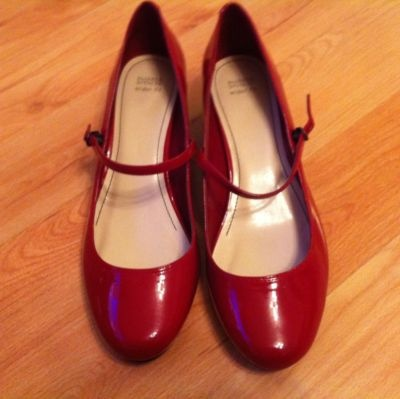Red Mary Jane shoes