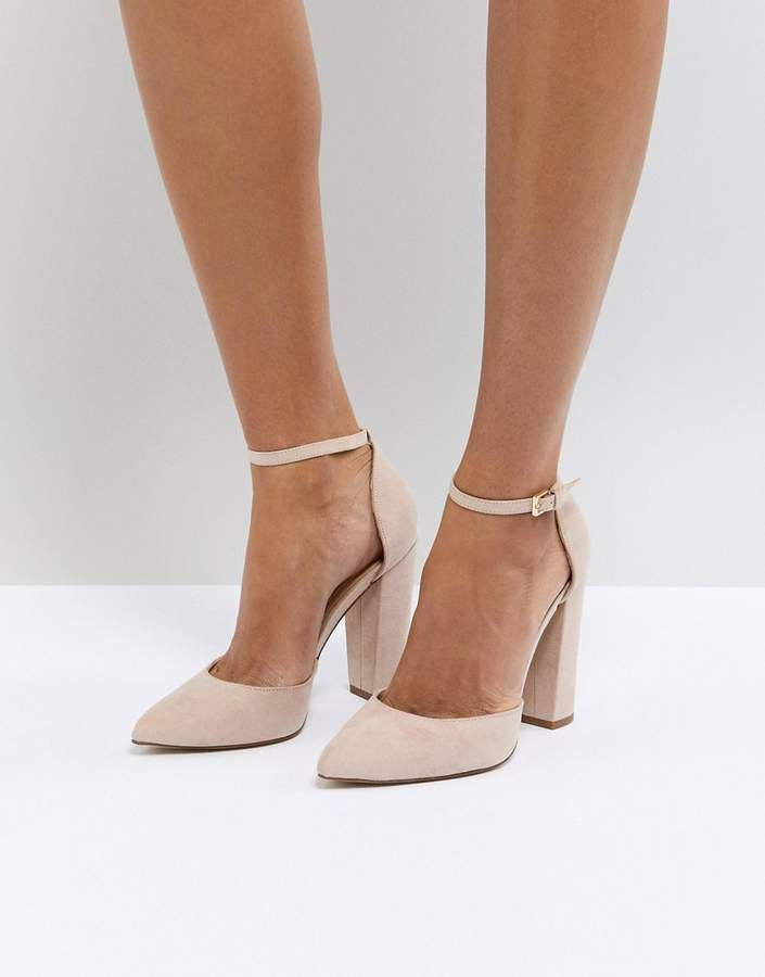 1a3aebbf73f Aldo Nicholes Beige Ankle Strap High Heeled Pointed Shoe