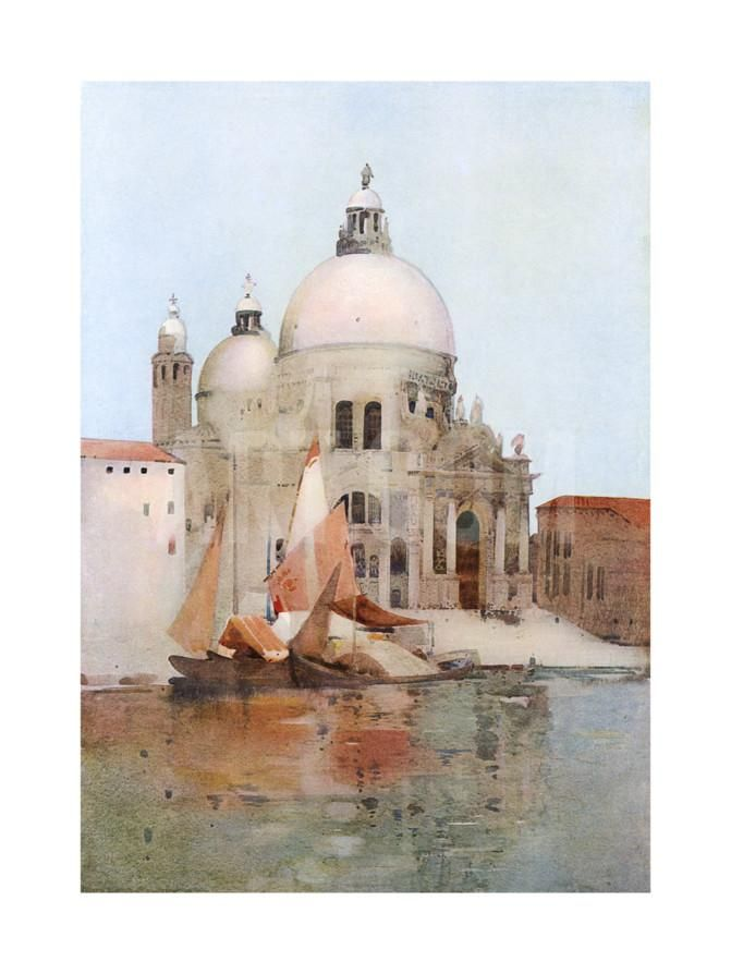 Venice, S Maria Salute Giclee Print by Arthur Melville at Art.co.uk