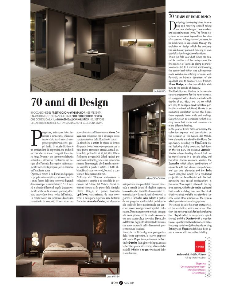 Il Foglio del Mobile IFDM special edition Il Salone del Mobile 2017. #ilsalonedelmobile #isaloni #fimes #ifdm #furniture #madeinitaly #design #interiordesign #ilsalonedelmobile2017 #milanodesignweek2017