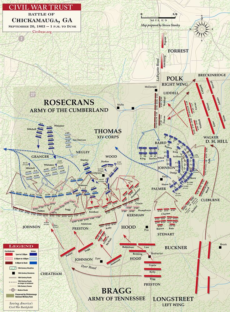 a history of the battle of chickamauga of the civil war The battle of chickamauga, named after the chickamauga creek which flowed   of the city of chickamauga and is the oldest and largest civil war battlefield in.