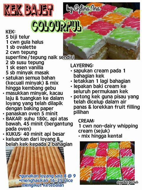 kek bajet colourful