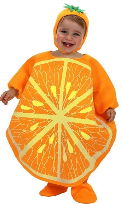 Disfraz de naranja para bebé. Disponible en www.vegaoo.es