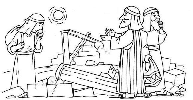 nehemiah bible study for kids coloring pages | 64 best BIBLE: NEHEMIAH images on Pinterest | Sunday ...