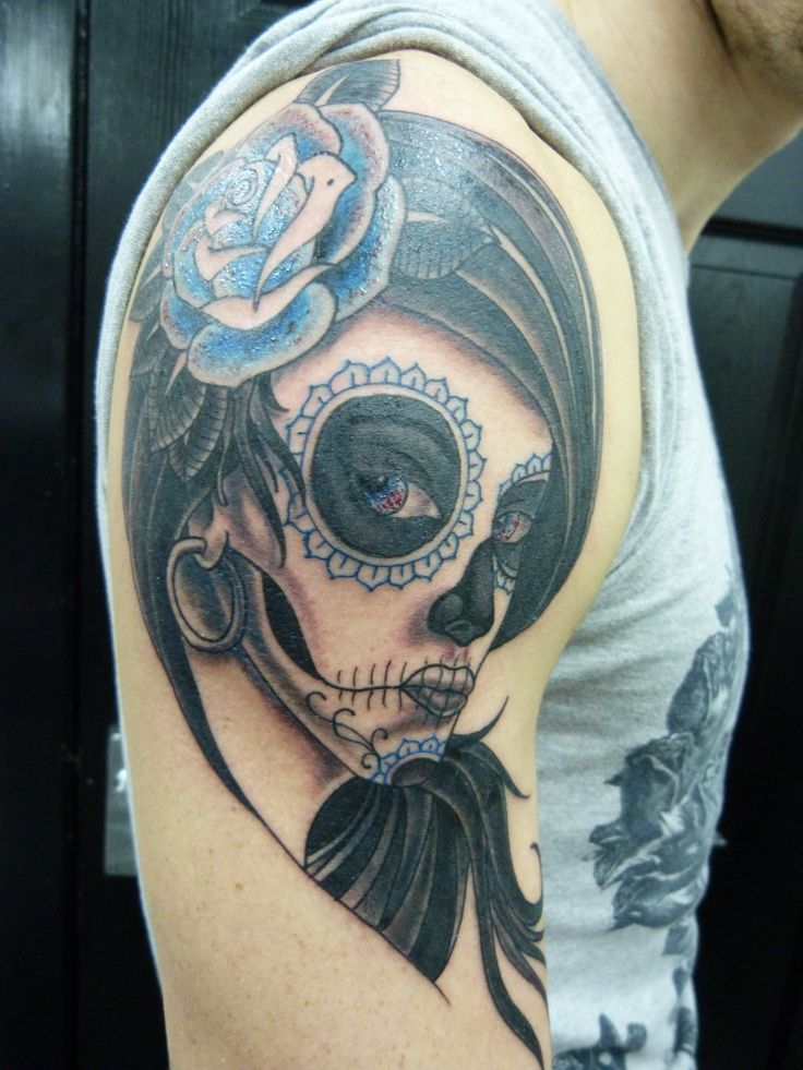 day of the dead girl tattoo - Probably only tattoo of a girl I'd ever get