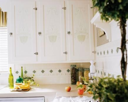 23 Best Cabinet Stencils Images On Pinterest Kitchen Cabinets