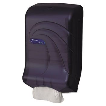 Ultrafold Multifold/c-Fold Towel Dispenser, Oceans, Black, 11 3/4 X 6 1/4 X 18