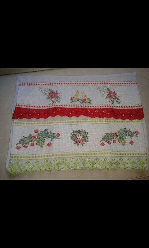 Toalhas de lavabo de Natal (vendo)