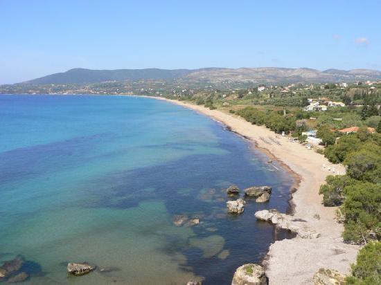 Beautiful Zaga beach, Koroni