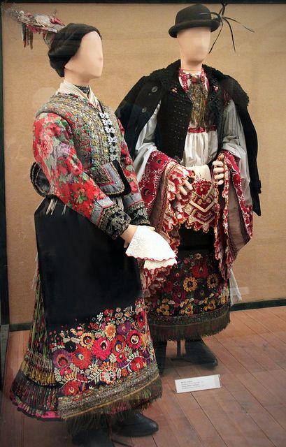 Couple from Matyó, Mezőkövesd, Borsod county 1900-10
