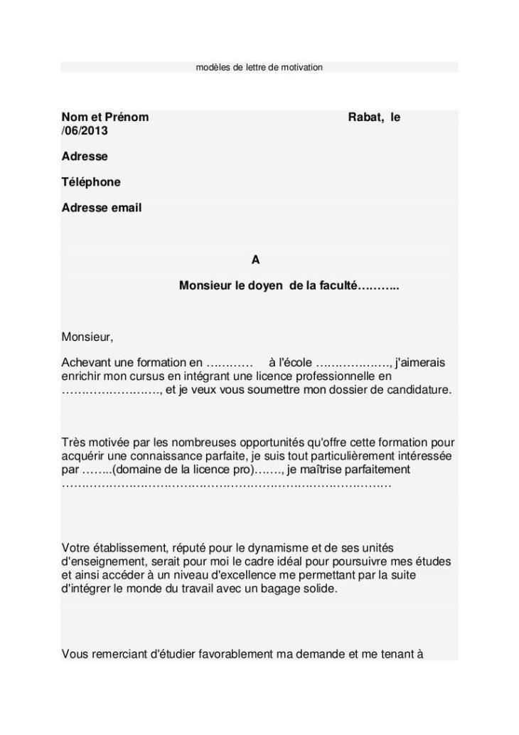 38 Lettre De Motivation Au Doyen De La Faculte Motivation Good Company Ecommerce