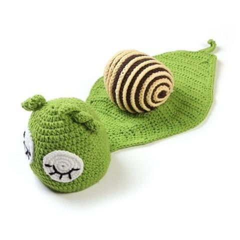 Snail - Green Beanie Baby Costume for Photograph Portraits 2-6 months