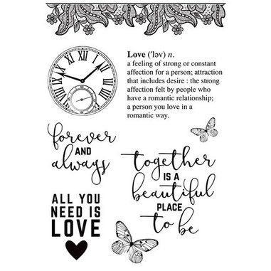 P.S. I Love You Clear Stamp Set - Ninabrook Paper Crafting