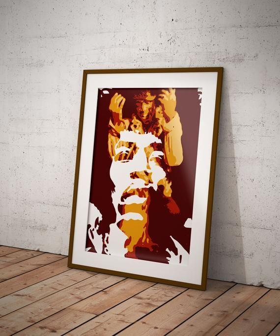 Jimi Hendrix A3  Art Print  New