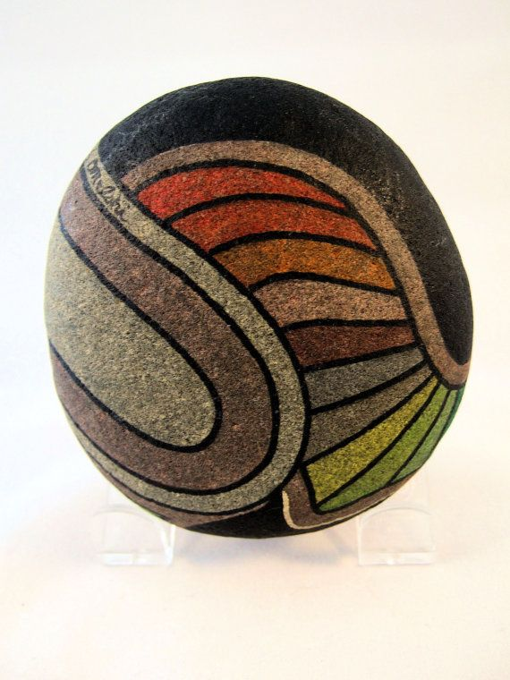 Collectible 3D Art Hand Painted Rocks Signed by IshiGallery