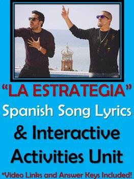 La Estrategia - Spanish Song Lyrics & Activities - Cali y el Dandee