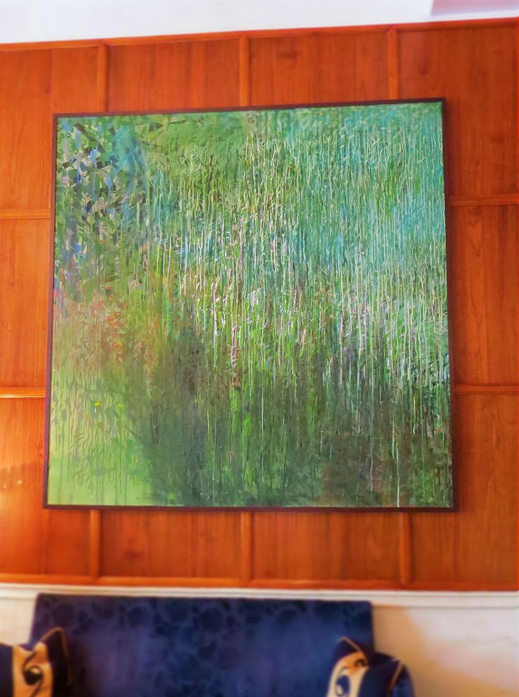 Weeping Willow by Ernő Tolvaly. This beautiful piece of art decorates the Gresham Restaurant at Four Seasons Hotel Gresham Palace Budapest.