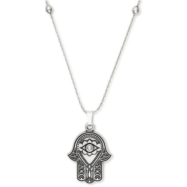 Alex And Ani Swarovski Crystal & Hand of Fatima Pendant Necklace ($38) ❤ liked on Polyvore featuring jewelry, necklaces, silver, swarovski crystal jewellery, alex and ani jewelry, alex and ani, swarovski crystals jewelry and pendant jewelry